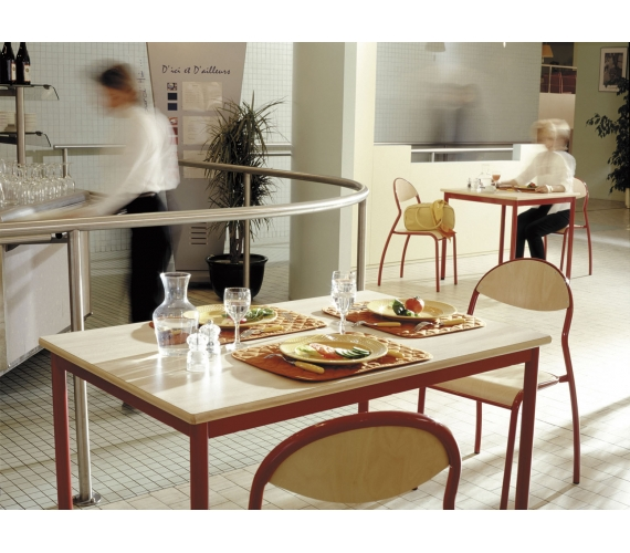Mobilier restaurants scolaires cantines caf t ria self for Emploi cantine collective