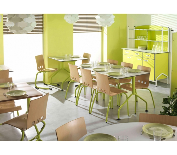 Mobilier restaurants scolaires cantines caf t ria self for Conception cuisine restauration collective